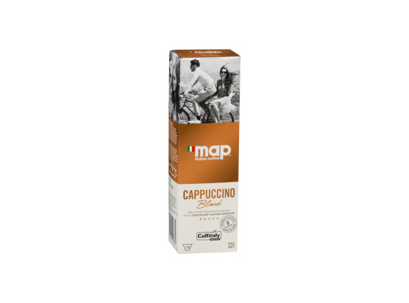 Map Cappuccino Coffee Capsule
